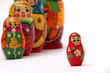 matryoshka dolls isolated on white background