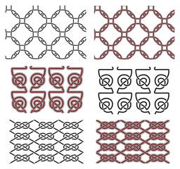 Set of vector seamless celtic design elements