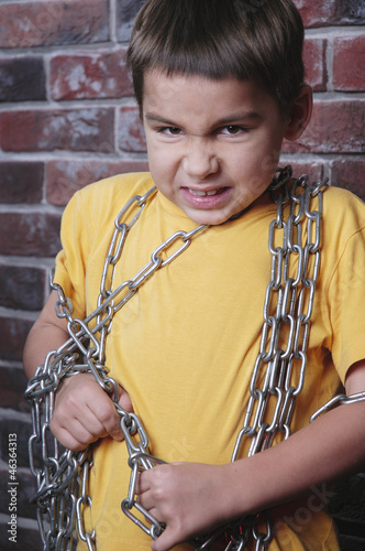 Kid in chain