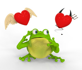 Rana con Dudas en Amor