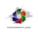 Photography company logo brush style #Vector