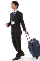 young businessman on a business trip