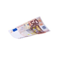 Fliegender 50 Euroschein