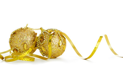 Gold Christmas decoration of objects