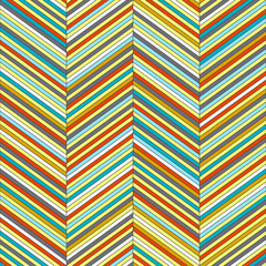 Chevron geometric seamless pattern, vector