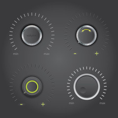 Vector volume knobs