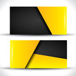 Modern business card - yellow and black colors