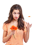 Teen girl with flower