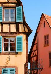 Fachwerkgebäude, Colmar, Elsass, Frankreich