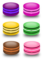 Macarons de plusieurs couleurs