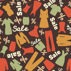 Retro pattern of clearance sale