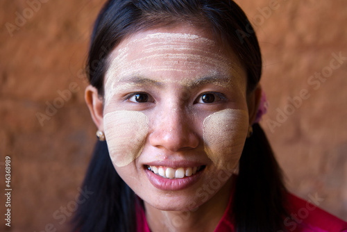 close up myanmar girl