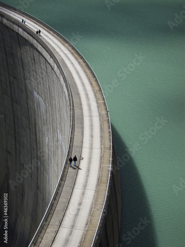 People on the Mooserboden dam - 46369302