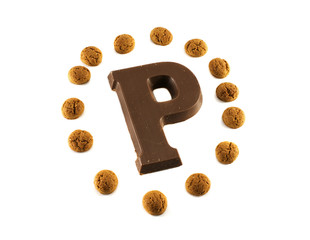 chocolate letter and pepernoten