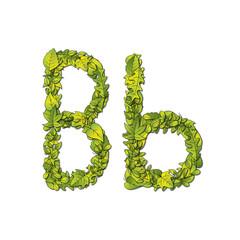 Eco Font Letter B
