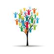 Peoples pictogram on tree
