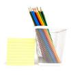Color pencils in the white meshy box