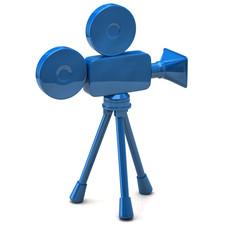 Blue film camera icon