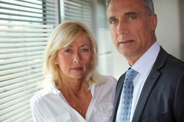 Mature business couple
