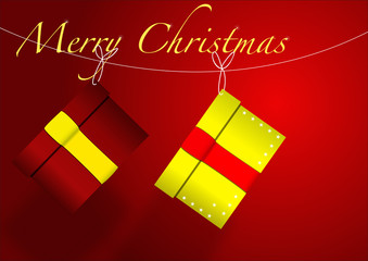Due pacchi di Natale vector