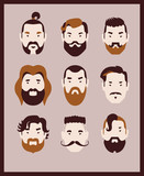 collection of man with beard and mustache