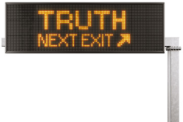 Digital highway sign