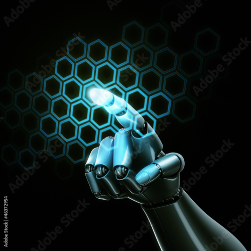 Touching virtual hexagons