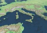 Europa Italia cartina fisica