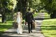 Hochzeitspaar geht auf Reisen