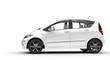 White Compact Modern Car