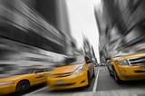 Taxis couleur sélective - New York, USA