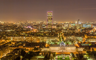 Tour Montparnasse and Ecole Militaire as seen from Eiffel Tower