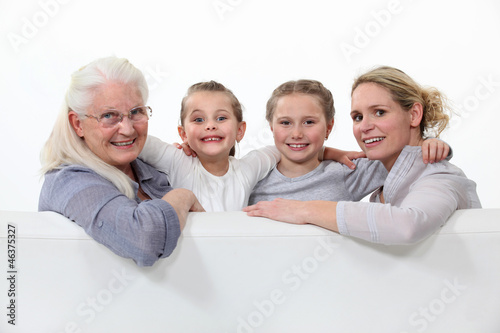 Three generations of women.