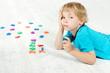Child studying mathematics.
