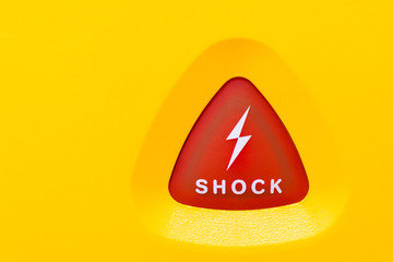 button to apply an AED shock
