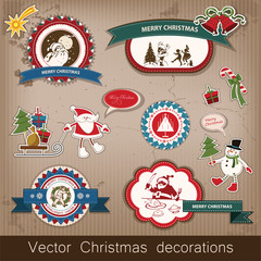 Christmas and New Year. vector