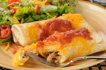 Chicken and cheese chimichangas