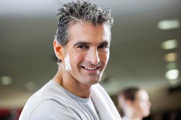 Fit Mature Man Smiling