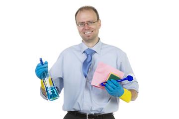 Auch Männer können putzen