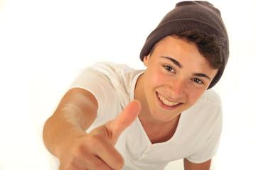 Teenager Daumen hoch 1.11.12
