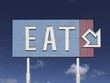 Old Eat Arrow Sign