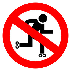 No roll skater sign