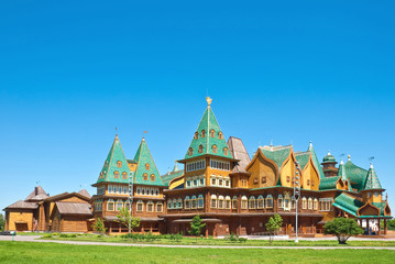 The wooden palace in Kolomenskoye, Moscow, Russia