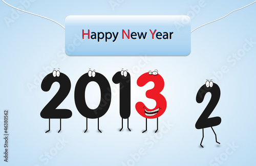 Happy New Years Eve card-vector