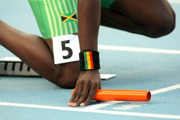 Atletismo. Salida de relevos
