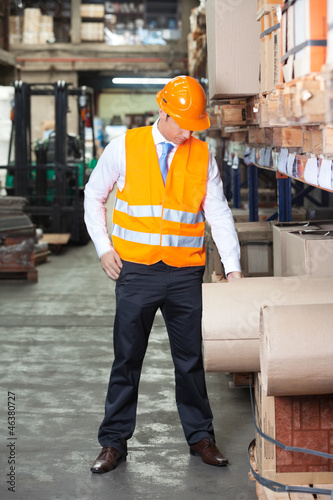 Young Supervisor At Warehouse