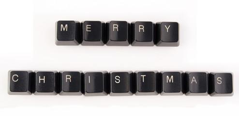 Keyboard keys wishing a Merry Christmas