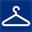Schild blau - Garderobe