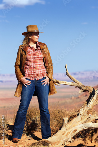 cowgirl in the desert