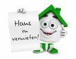 Kleines 3D Haus Grün - Haus zu vermieten!